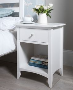 edward hopper white bedside table - Bedroom Table Ideas