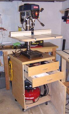 Drill press/compressor cart