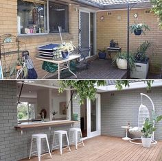 Three Birds Hot Tip 🔥 If your budget doesn't extend to rendering your brickwork, get out the spray gun like we did on our first reno 💪… Indoor Outdoor Living, Outdoor Areas, Outdoor Life, Outdoor Decor, Outdoor Patios, Indoor Garden, Reforma Exterior, Architecture Renovation, Three Birds Renovations