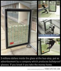 Clever idea and good advertising... But what else could 3mil be used for maybe??? Gosh, America.