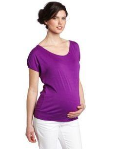 Ripe Maternity Women's Relaxed Sleeve Tee, Purple, X-Small Ripe Maternity. $36.00