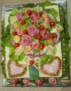 Slané torty BJ PO VT MI HE Sandwich Cake, Sandwiches, Cold Cuts, Salty Foods, Cooking Classes, Charcuterie, Starters, Food Art, Lamb
