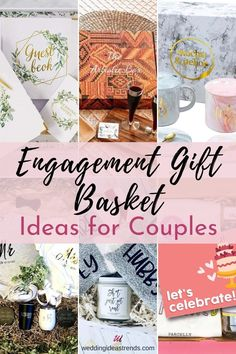 The best thing about a gift basket or box is the opportunity to create an opening gift experience. It's so fun and exciting part for couples to discover all the little gifts inside. From romantic date night to celebrate their engagement, new exciting decorations items for their shared life together, to helpful gift for organizing their wedding. Here are 15 cute engagement gift basket ideas for couples. In different styles and budgets, you'll be sure the newly engaged will use and love