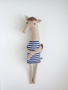 Plush Brown Horse Friend- Finkelstein's Center Handmade Creature