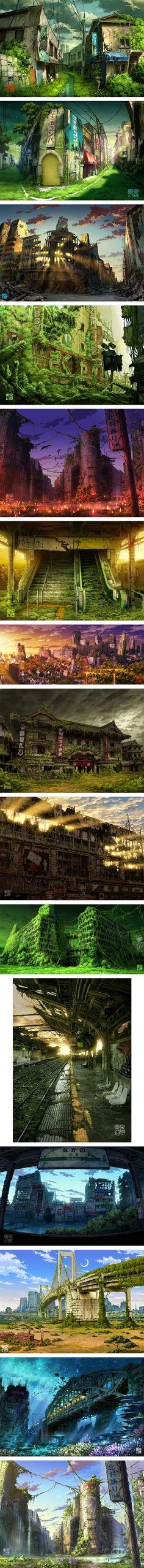 Découvrez Tokyo plongé dans une nature apocalyptique.