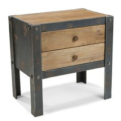 Bolt Side Table Natural, $189, now featured on Fab.    I like the finish treatment...it gives me ideas