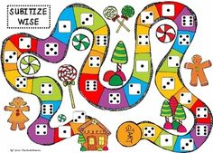 Gingerbread themed games...cute, a couple of our kids were playing candy land in centers last week and loved it.