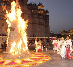 5 Places To Celebrate Holi In India: Udaipur, Rajasthan On the eve of Holi (March 5, 2015) people light bonfires to mark the occasion and ward of evil spirits in a ritual called holika dahan.  For an unforgettable regal experience, join in the celebration of Udaipur's Mewar royal family. There will be a magnificent palace procession from the royal residence to Manek Chowk at the City Palace, including bedecked horses and royal band. Later the traditional sacred fire will be lit and an effigy…