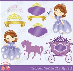 Princess Sophie Clip Art Set by 1EverythingNice on Etsy, $5.00