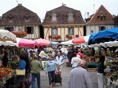 Bretenoux market, France