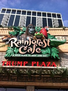 Rainforest Cafe, Atlantic City NJ.     Had lots of fun with our 3 grandchildren here:)