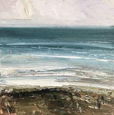 Textured Coast Oil On Canvas, Coast, Waves, Paintings, Sky, Texture, Frame, Outdoor, Heaven
