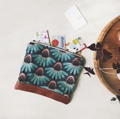 Cone Flower Pouch by OurOwnLittleHive on Etsy