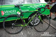 Thomas Voeckler's (Europcar) Colnago C59 Italia just before the start of Stage 6.