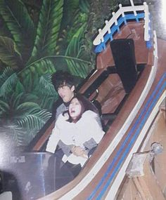 Hong Jin Young and Namgoong Min Captured in Hilarious Photo at Amusement Park Namgoong Min, Asian Humor, Me And Bae, We Get Married, Blackpink Video, Somebody To Love, Disney Memes, Cute Relationships, Amusement Park