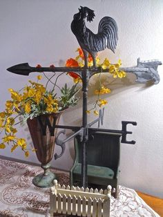 Rooster decor - centerpiece idea