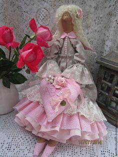 Купить Tilda ангел - для любимой девушки . - розовый, тильда ангел, куклы Тильда, тильда фея ☆