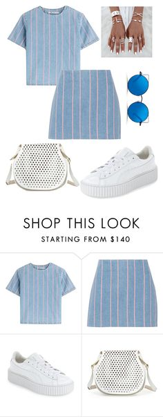 """Matching"" by cokocoko on Polyvore featuring T By Alexander Wang, Puma, Cynthia Rowley and Matthew Williamson"