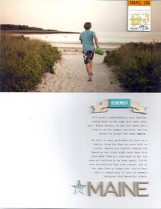 remember Maine by melanie louette at Studio Calico #scrapbooking#scrapbooklayout