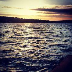 Sunset over Lake Hopatcong from Windlass Restaurant & Marina. #Instagram