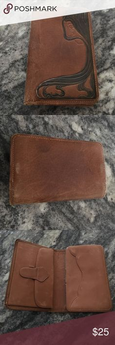 Vintage Leather Art Deco Wallet 1920's Vintage Art Deco Wallet in soft brown leather. It is OLD and used. Has a few challenges but still an amazing piece. The last photo shows where the stitching is gone. Otherwise totally functional. Bags Wallets