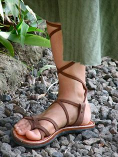 Gladiator Women's Sandals Custom Men's Sandals by SoulPathShoes Women's Lace Up Sandals, Roman Sandals, Leather Gladiator Sandals, Brown Leather Sandals, Women's Sandals, Soft Leather, Huaraches, Flexibility, Greece
