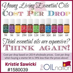 Epic Young Living Cost Per Drop