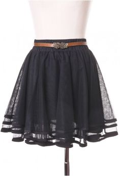 a more grown up version of a tutu...love the belt with this skirt too