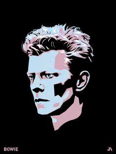 David Bowie, poster art.