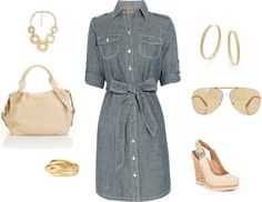 """Denim and gold"" by smithy123 on Polyvore"