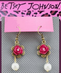 Ends April 13 register for free drawing - Betsey Johnson earrings