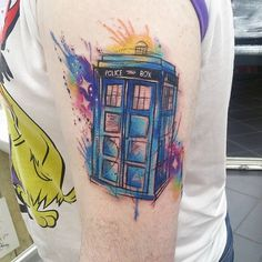 Did this tardis the other day, first tattoo as well thanks James! Did this tardis the other day, first tattoo as well thanks James! Dr Who Tattoo, Doctor Who Tattoos, First Tattoo, Get A Tattoo, Tardis Tattoo, Sketchy Tattoo, Gorilla Tattoo, Doctor Who Art, Nail Tattoo