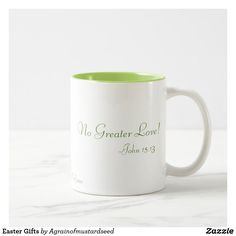 No Greater Love Easter Gifts Two-Tone Coffee Mug