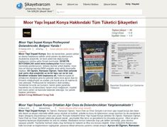 Moor yapı inşaat sahtekar dolandırıcı müteahhit hakkındaki şikayetler için www.sikayetvarcom.com  sitesine bakınız. http://www.sikayetvarcom.com/#!mooryapi-com/it36r