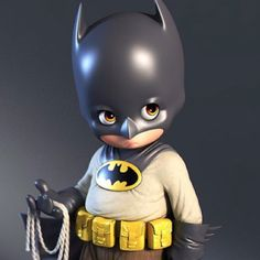 Little Batman, Luis Gomez-Guzman Batman Love, Skottie Young, Art Station, Cg Art, Character Modeling, Cute Bears, Zbrush, Character Illustration, Sculpting