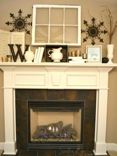 Winter White Mantel4wtrmk- Sondra Lyn at Home