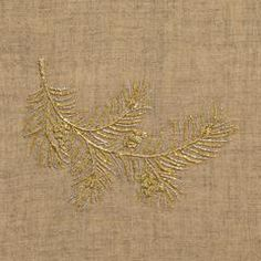Bough Glitter Natural Hand Towel - Natural Linen + 50 In Stock