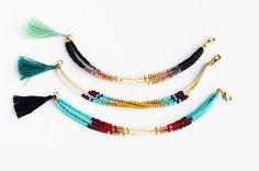 Multicolor Beaded Friendship Bracelet Turquoise door feltlikepaper