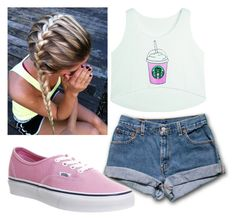 """""""School outfit-Starbucks"""" by being-perfect-is-a-fantasy on Polyvore featuring Vans"""