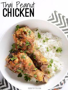 Thai Peanut Chicken - BudgetBytes.com