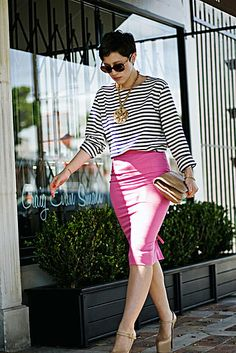 Stripes and Pink, platform Louboutins