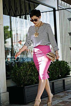 Stripes and Pink, platform Louboutins