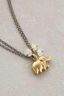 Anthropologie - Collier pendentif Elephas