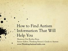 How to Find Autism Information That Will Help You