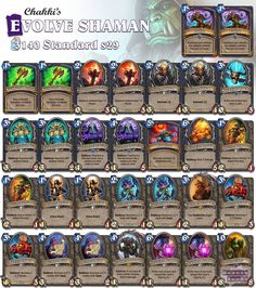 I came across this list last week but haven't played it yet. Any experiences? #Hearthstone #StandardShaman