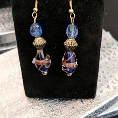 Stunning hand crafted acrylic designed dangle earrings