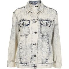 TOPSHOP MOTO Extreme Acid Wash Oversize Jacket ($45) ❤ liked on Polyvore featuring outerwear, jackets, coats, topshop, tops, bleach stone, oversized jean jacket, acid wash denim jacket, jean jacket and bleached denim jacket