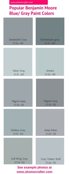 Por Benjamin Moore Blue Gray Paint Colors
