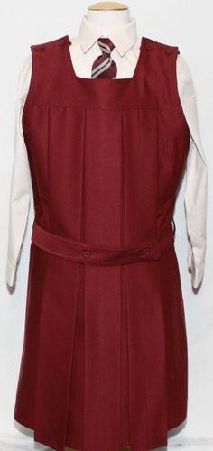 Children School Wear Pleated Pinafore Four Button Dress Girl V Neck Uniform Top