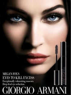 Megan Fox Armani Makeup Ad